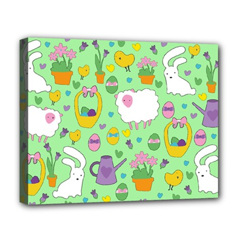 Cute Easter pattern Deluxe Canvas 20  x 16