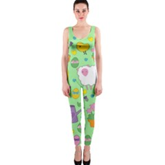 Cute Easter pattern OnePiece Catsuit
