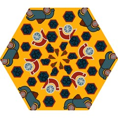 Husbands Cars Autos Pattern On A Yellow Background Mini Folding Umbrellas