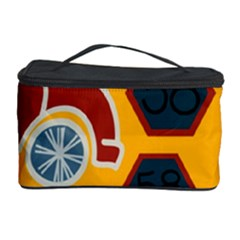 Husbands Cars Autos Pattern On A Yellow Background Cosmetic Storage Case