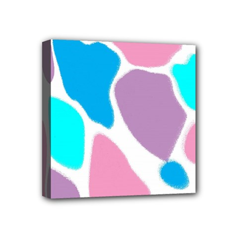 Baby Pink Girl Party Pattern Colorful Background Art Digital Mini Canvas 4  x 4