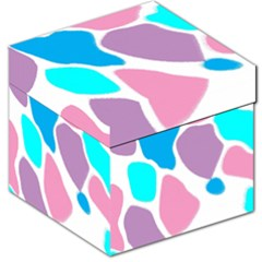 Baby Pink Girl Party Pattern Colorful Background Art Digital Storage Stool 12