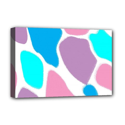 Baby Pink Girl Party Pattern Colorful Background Art Digital Deluxe Canvas 18  X 12