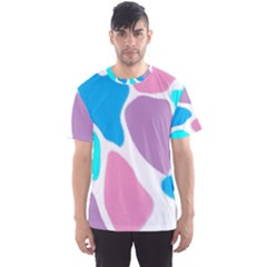 Baby Pink Girl Party Pattern Colorful Background Art Digital Men s Sport Mesh Tee