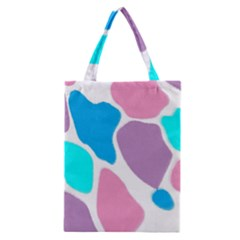 Baby Pink Girl Party Pattern Colorful Background Art Digital Classic Tote Bag