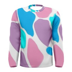 Baby Pink Girl Party Pattern Colorful Background Art Digital Men s Long Sleeve Tee