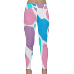 Baby Pink Girl Party Pattern Colorful Background Art Digital Classic Yoga Leggings
