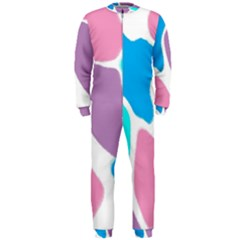 Baby Pink Girl Party Pattern Colorful Background Art Digital Onepiece Jumpsuit (men)