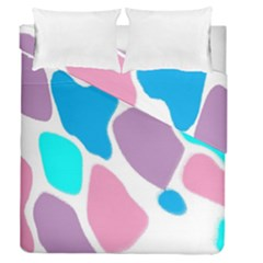 Baby Pink Girl Party Pattern Colorful Background Art Digital Duvet Cover Double Side (queen Size)