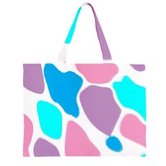 Baby Pink Girl Party Pattern Colorful Background Art Digital Large Tote Bag