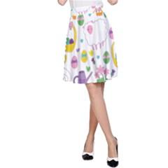Cute Easter pattern A-Line Skirt