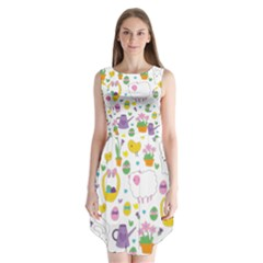 Cute Easter pattern Sleeveless Chiffon Dress