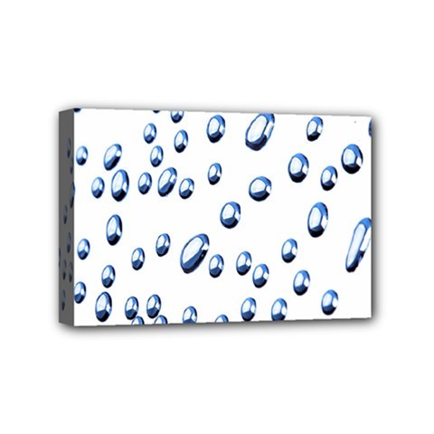 Water Drops On White Background Mini Canvas 6  x 4