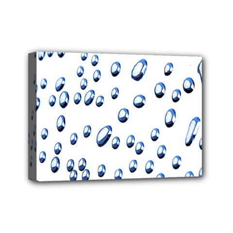 Water Drops On White Background Mini Canvas 7  x 5