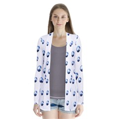 Water Drops On White Background Cardigans