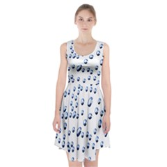 Water Drops On White Background Racerback Midi Dress