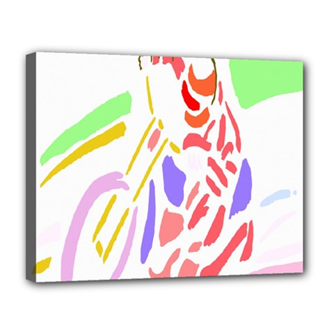 Motorcycle Racing The Slip Motorcycle Canvas 14  X 11