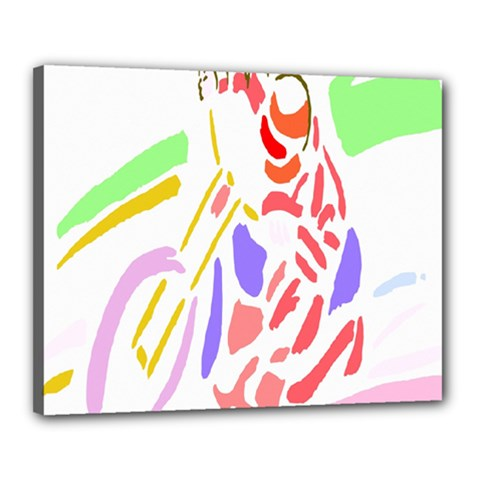 Motorcycle Racing The Slip Motorcycle Canvas 20  x 16