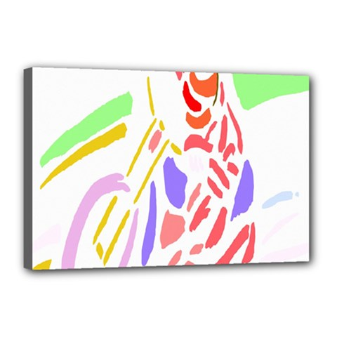 Motorcycle Racing The Slip Motorcycle Canvas 18  X 12