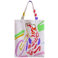 Motorcycle Racing The Slip Motorcycle Zipper Classic Tote Bag