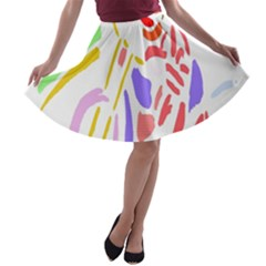 Motorcycle Racing The Slip Motorcycle A-line Skater Skirt