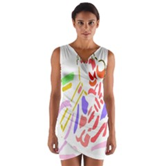 Motorcycle Racing The Slip Motorcycle Wrap Front Bodycon Dress