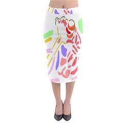 Motorcycle Racing The Slip Motorcycle Midi Pencil Skirt