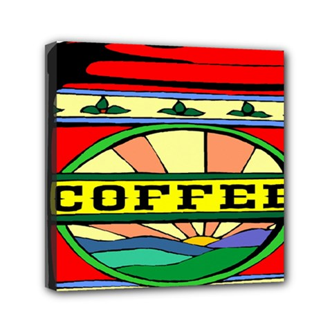 Coffee Tin A Classic Illustration Mini Canvas 6  X 6