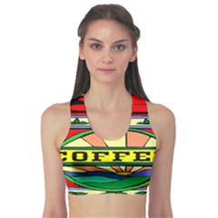 Coffee Tin A Classic Illustration Sports Bra