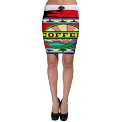 Coffee Tin A Classic Illustration Bodycon Skirt