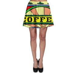 Coffee Tin A Classic Illustration Skater Skirt