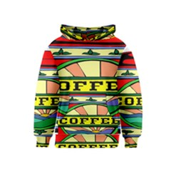 Coffee Tin A Classic Illustration Kids  Pullover Hoodie