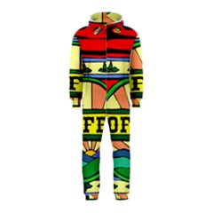 Coffee Tin A Classic Illustration Hooded Jumpsuit (Kids)
