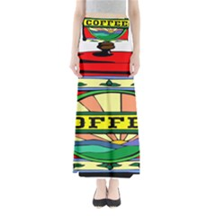 Coffee Tin A Classic Illustration Maxi Skirts
