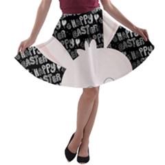 Easter bunny  A-line Skater Skirt