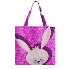 Easter bunny  Zipper Grocery Tote Bag
