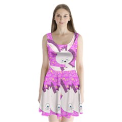 Easter bunny  Split Back Mini Dress