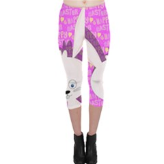 Easter bunny  Capri Leggings