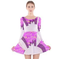 Easter bunny  Long Sleeve Velvet Skater Dress