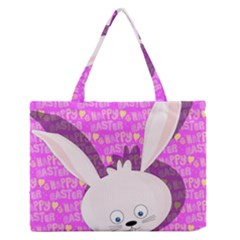 Easter bunny  Medium Zipper Tote Bag