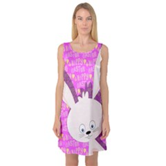 Easter Bunny  Sleeveless Satin Nightdress
