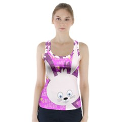 Easter bunny  Racer Back Sports Top