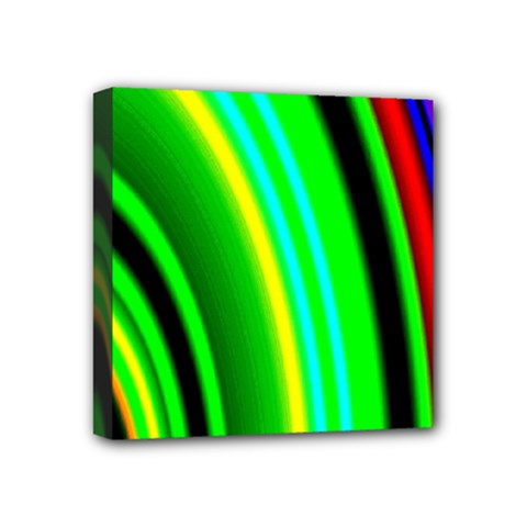 Multi Colorful Radiant Background Mini Canvas 4  x 4