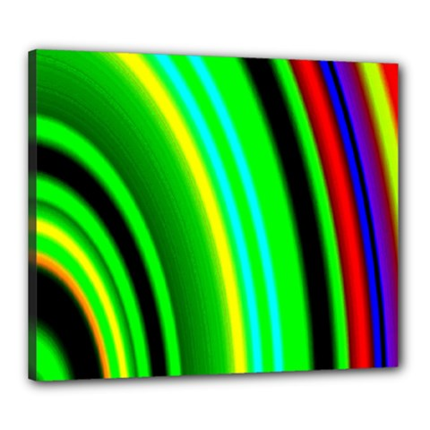 Multi Colorful Radiant Background Canvas 24  x 20