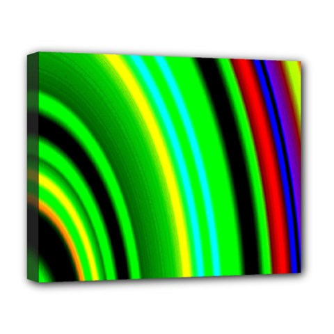 Multi Colorful Radiant Background Deluxe Canvas 20  x 16