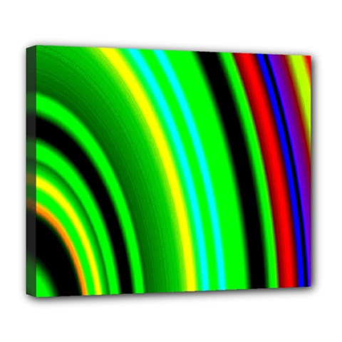 Multi Colorful Radiant Background Deluxe Canvas 24  x 20