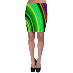 Multi Colorful Radiant Background Bodycon Skirt