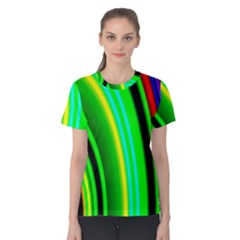 Multi Colorful Radiant Background Women s Cotton Tee