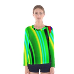 Multi Colorful Radiant Background Women s Long Sleeve Tee