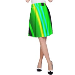 Multi Colorful Radiant Background A-Line Skirt